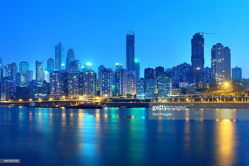 riverine scenery in Chongqing