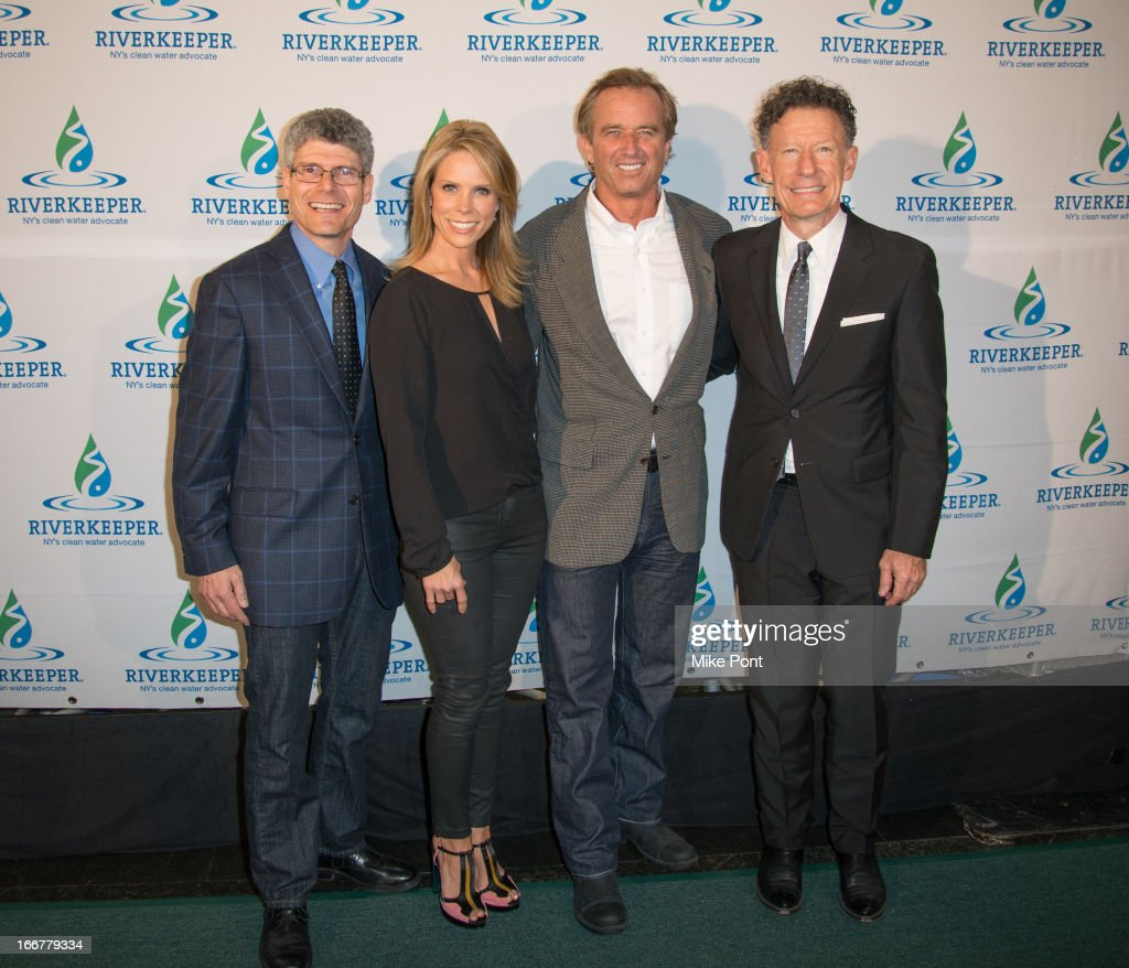 Riverkeeper President Paul Gallay, Actress <a gi-track='captionPersonalityLinkClicked' href=/galleries/search?phrase=Cheryl+Hines&family=editorial&specificpeople=209249 ng-click='$event.stopPropagation()'>Cheryl Hines</a>, <a gi-track='captionPersonalityLinkClicked' href=/galleries/search?phrase=Robert+F.+Kennedy+Jr.+-+Environmental+Lawyer&family=editorial&specificpeople=240088 ng-click='$event.stopPropagation()'>Robert F. Kennedy Jr.</a> and <a gi-track='captionPersonalityLinkClicked' href=/galleries/search?phrase=Lyle+Lovett&family=editorial&specificpeople=213855 ng-click='$event.stopPropagation()'>Lyle Lovett</a> attend the 2013 Riverkeeper's Fishermen's Ball at Pier 60 on April 16, 2013 in New York City.