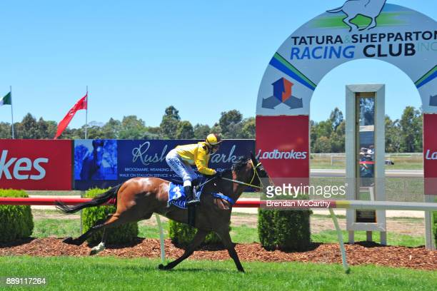 Riverlea Honours ridden by Rebeka Prest wins the Kevin Hicks Real Estate Maiden Plate at Tatura Racecourse on December 10 2017 in Tatura Australia