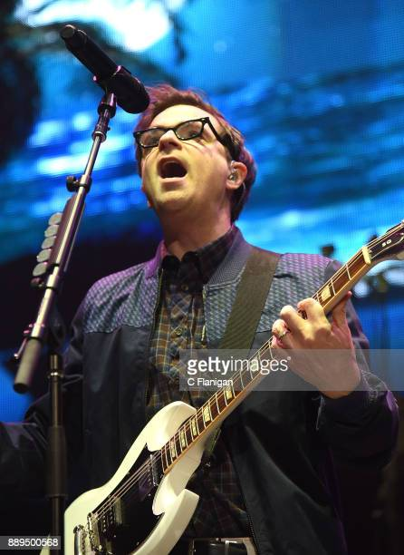 Rivers Cuomo of Weezer performs during Live 105's 2017 Not So Silent Night at ORACLE Arena on December 9 2017 in Oakland California