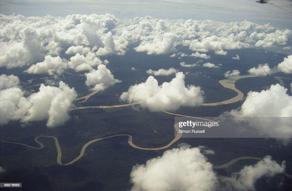 Rivers - the highways of Borneo : Stock Photo