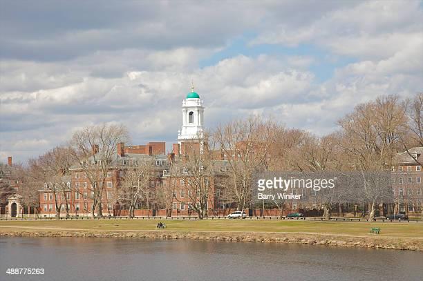 Riverside brick Harvard University halls