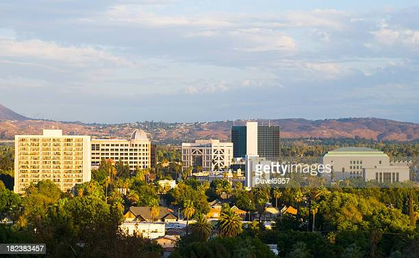 リバーサイド、カリフォルニア州ダウンタウンの街並み