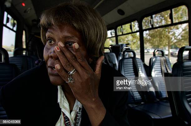Riverside Nov09 2006 Lavera Hamilton wipes her tears as she became emotional while talking about elections and its effects on public service sector...