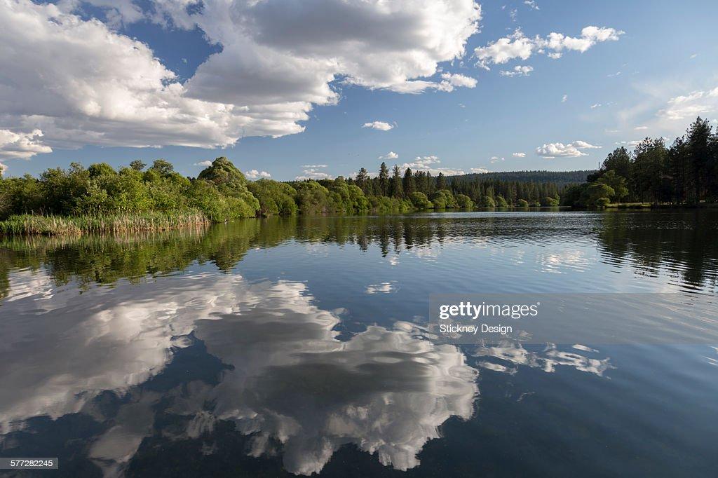 Riverside Park Reflection Spokane River Washington