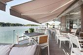 Riverside terrace cafe