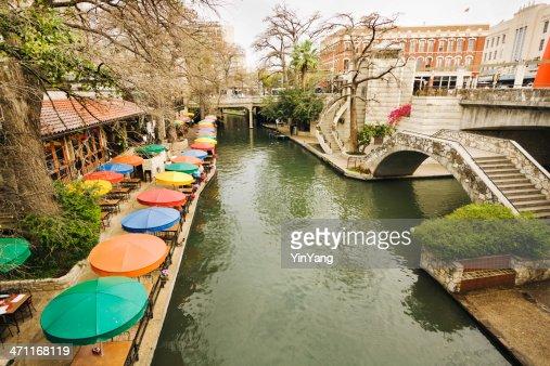 Riverwalk Downtown Tourist and Retail  District of San Antonio Texas