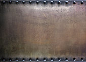 Metal background, riveted metal texture
