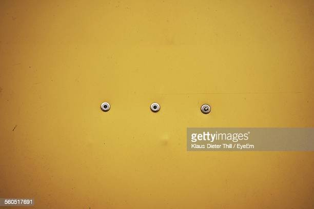 Rivets On Yellow Metal