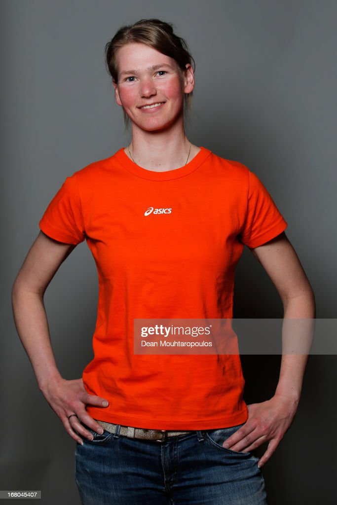 Rixt Meijer, poses during the NOC*NSF (Nederlands Olympisch Comite * Nederlandse Sport Federatie) Sochi athletes and officials photo shoot for Asics at the Spoorwegmuseum on May 4, 2013 in Utrecht, Netherlands.