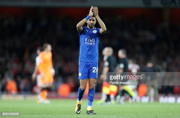 Riyad Mahrez of Leicester City after the Premier League match between Arsenal and Leicester City at Emirates Stadium on August 11th 2017 in London...