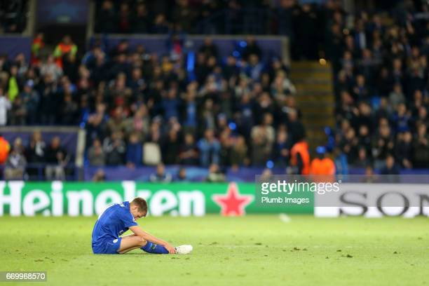 Riyad Mahrez of Leicester City after the UEFA Champions League Quarter Final Second Leg match between Leicester City and Club Atletico de Madrid at...