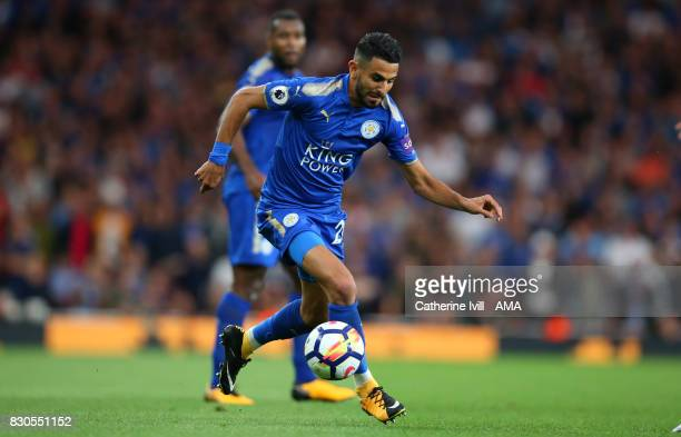 Riyad Mahrez of Leicester City during the Premier League match between Arsenal and Leicester City at Emirates Stadium on August 11 2017 in London...