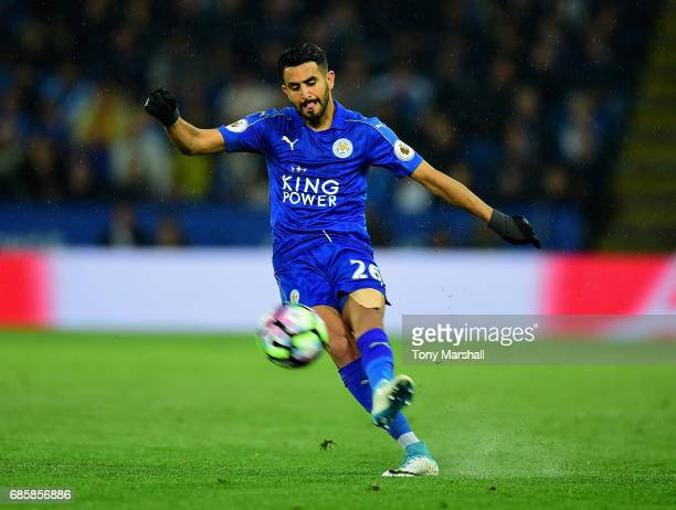 Riyad Mahrez of Leicester City during the Premier League match between Leicester City and Tottenham Hotspur at The King Power Stadium on May 18 2017...