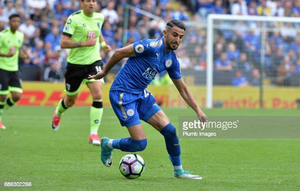 Riyad Mahrez of Leicester City in action during the Premier League match between Leicester City and Bournemouth at King Power Stadium on May 21 2017...