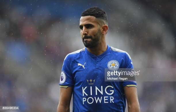 Riyad Mahrez of Leicester City looks on during the Premier League match between Leicester City and Brighton and Hove Albion at The King Power Stadium...