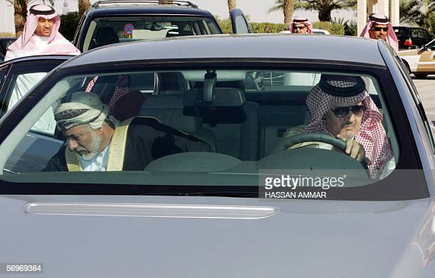Saudi Foreign Minister Prince Saud alFaisal arrives with his Omani counterpart Yussef bin Alwi bin Abdullah at the ministerial meeting of the Gulf...