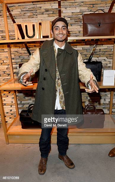 Riz Ahmed attends a cocktail party hosted by Mulberry in its flagship store on New Bond Street in celebration of London Collections Mens and...