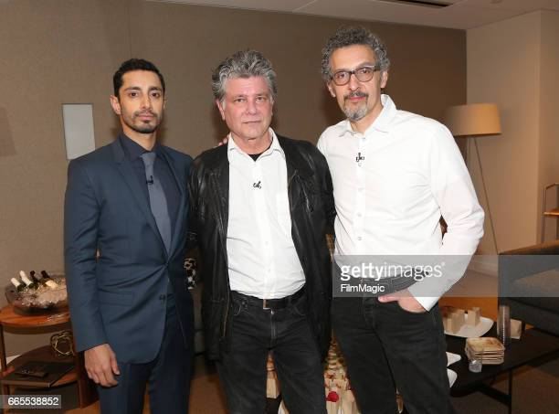 Riz Ahmed Steven Zaillian and John Turturro attend HBO's 'The Night of' FYC on April 6 2017 in Los Angeles California