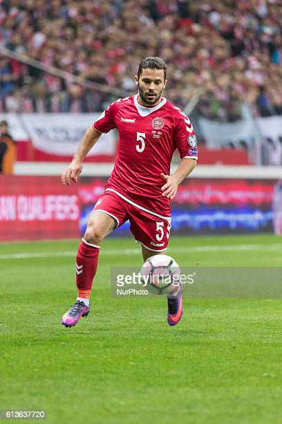 Riza Durmisi during the 2018 FIFA World Cup qualification match between Poland and Denmark national football teams at National Stadium in Warsaw...
