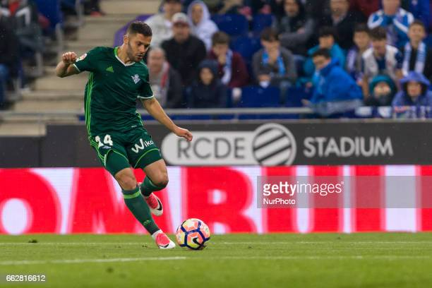 Riza Durmisi during the match between RCD Espanyol vs Betis for the round 29 of the Liga Santander played at RCD Espanyol Stadium on 31th March 2017...