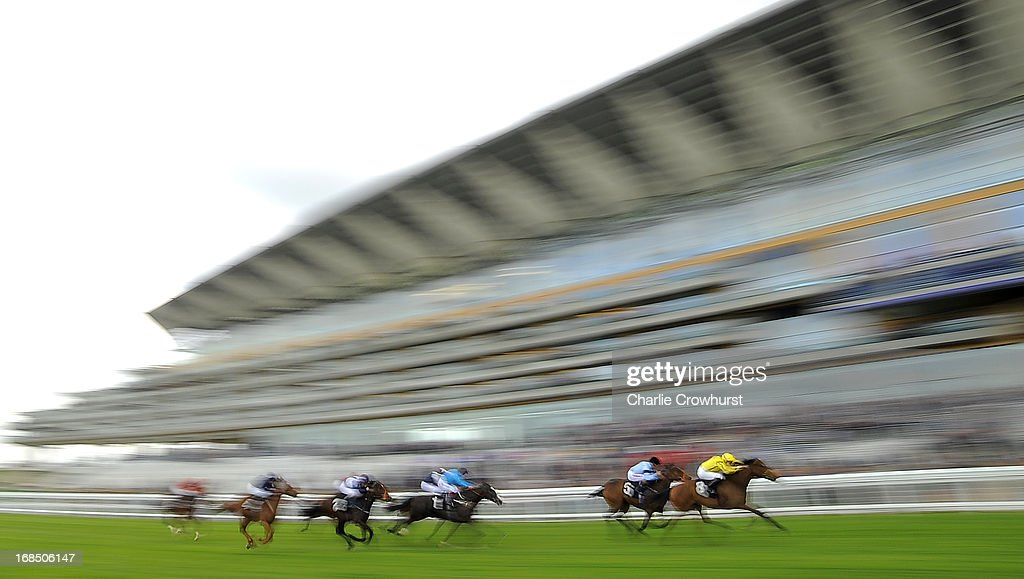 Rizeena ridden by Frederik Tylicki wins The Irish Stallion Farms E.B.F. Maden Fillie's Stakes at Ascot racecourse on May 10, 2013 in Ascot, England.