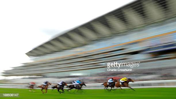Rizeena ridden by Frederik Tylicki wins The Irish Stallion Farms EBF Maden Fillie's Stakes at Ascot racecourse on May 10 2013 in Ascot England