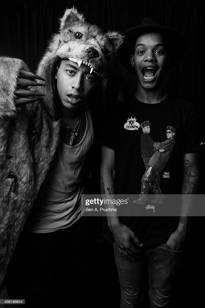 <a gi-track='captionPersonalityLinkClicked' href=/galleries/search?phrase=Rizzle+Kicks&family=editorial&specificpeople=7996073 ng-click='$event.stopPropagation()'>Rizzle Kicks</a> pose backstage at the KISS FM Haunted House Party at Eventim Apollo, Hammersmith on October 31, 2014 in London, England.