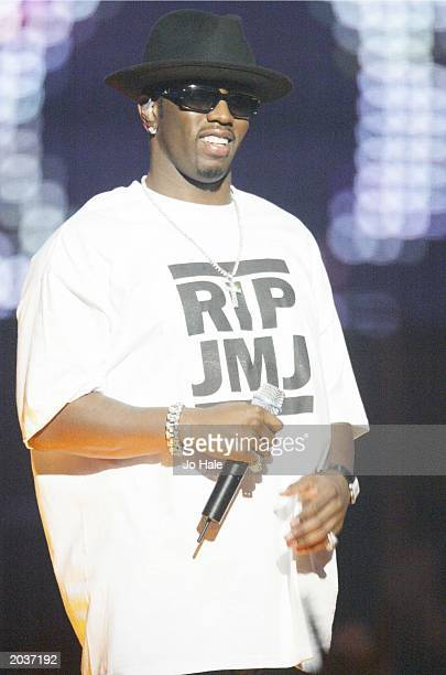 RnB performer P Diddy hosts the MTV Europe Music Awards on November 14 2002 at Palau Sant Jordi Barcelona Spain