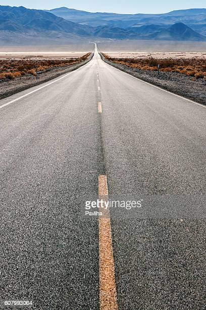 Road 190 in Panamint Valley,Death Valley , California, USA