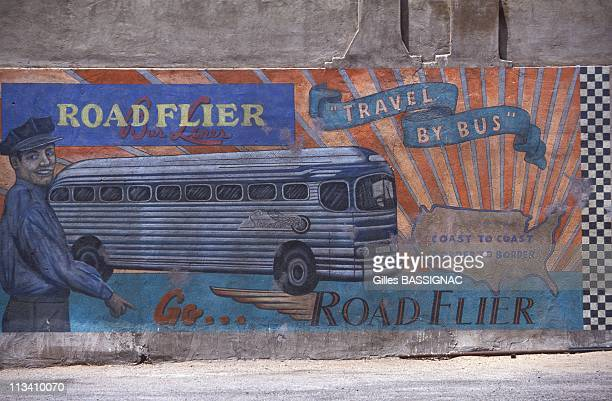 Road 66 Chicago To Los Angeles On June 1st 1992 Old Poster For Coast To Coast Bus Lines In United States
