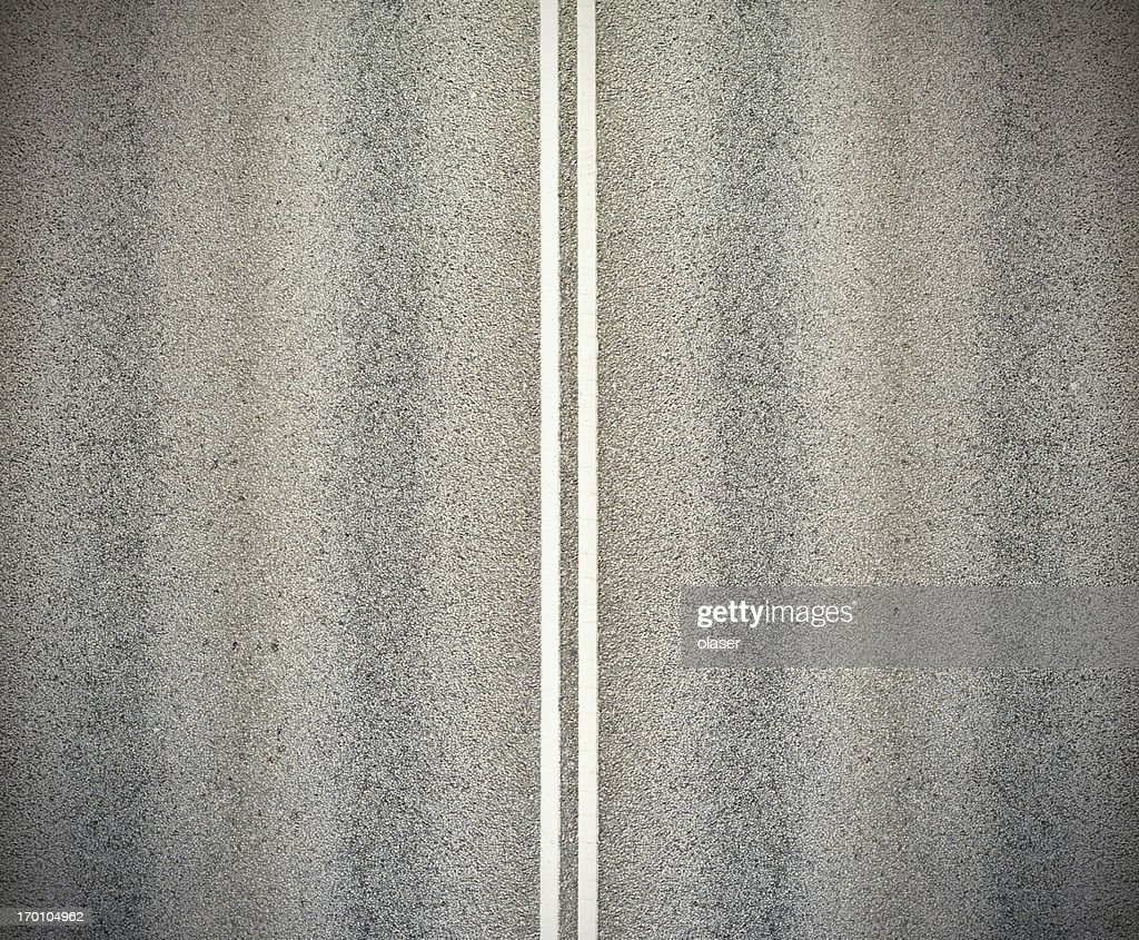 Road, and double white lines