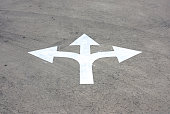 road arrow direction