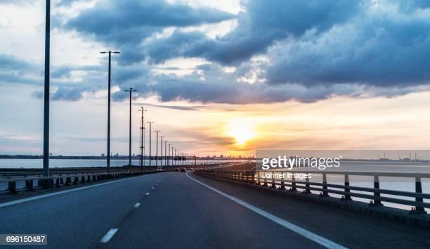 Road at sunset