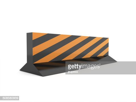 Road barrier construction rendered isolated : Stockfoto