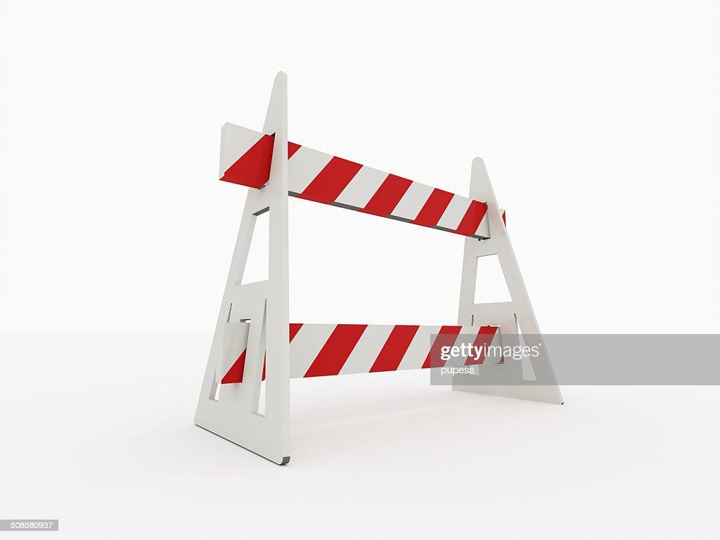Road barrière isolé : Photo