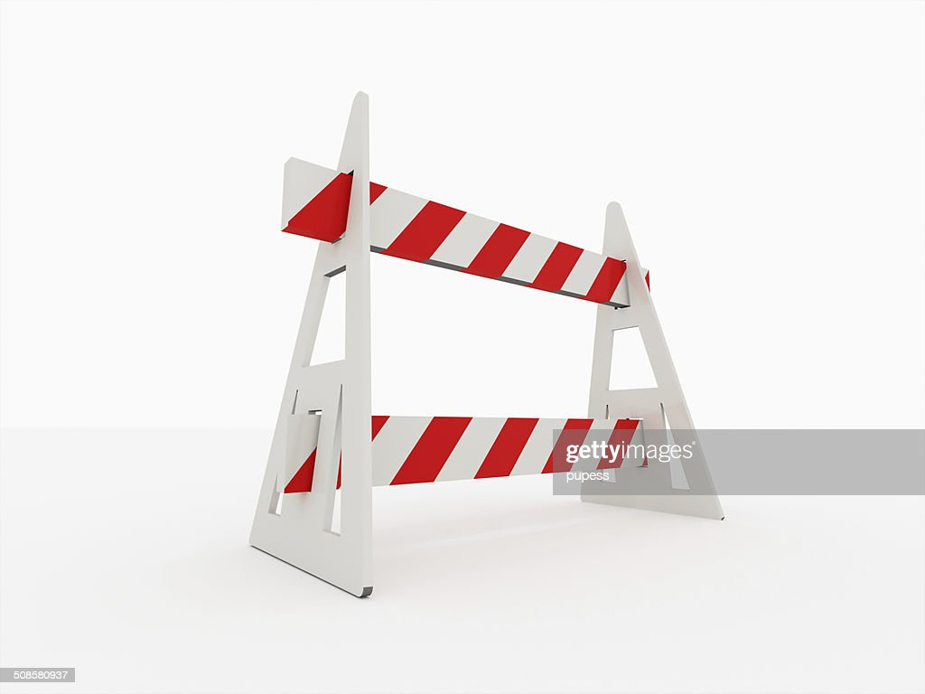 Road barrier isolated : Bildbanksbilder
