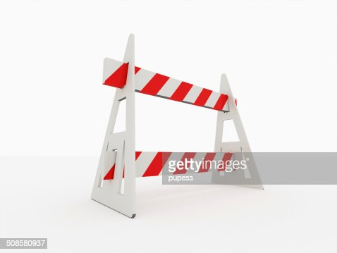 Road barrier isolated : Stock Photo