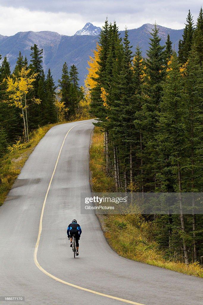 Road Biking in Banff National Park, Canada : Stock Photo