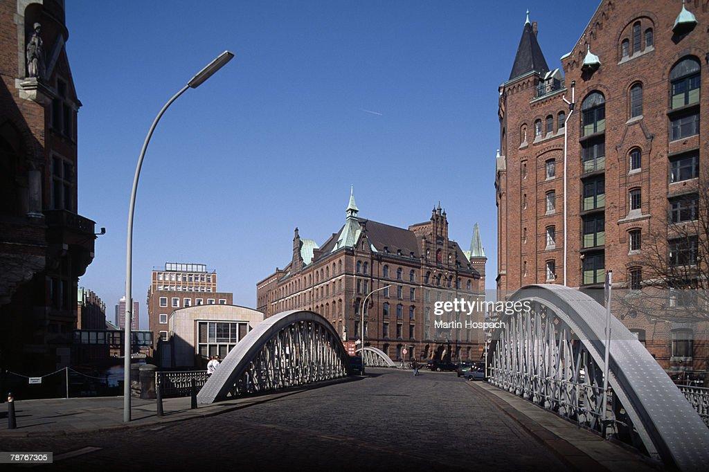A road bridge in Hamburg, Germany