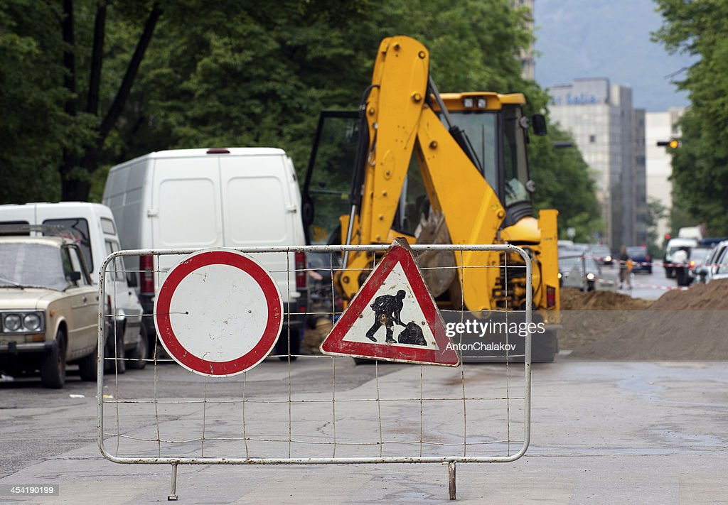 Road construction : Stock Photo