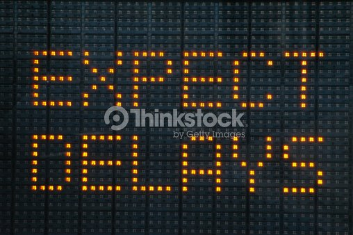 Road construction sign telling motorists to expect delays : Stock Photo