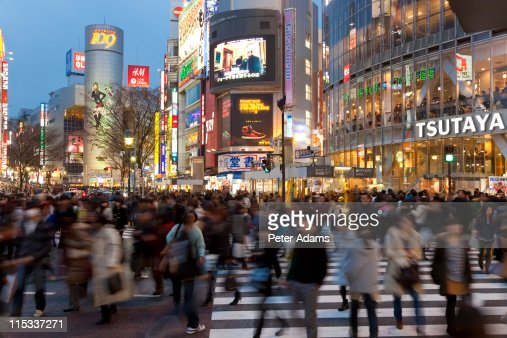 Road crossing, Shibuya, Tokyo, Japa