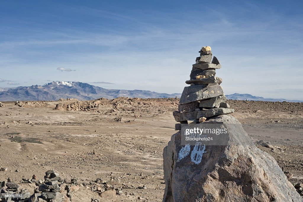 Road from Arequipa to Chivay : Stock Photo