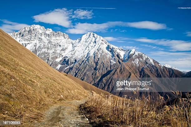 Road from Ushguli to Lentekhi