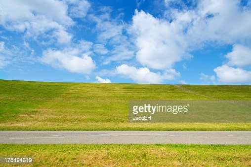 Road Grass and Sky