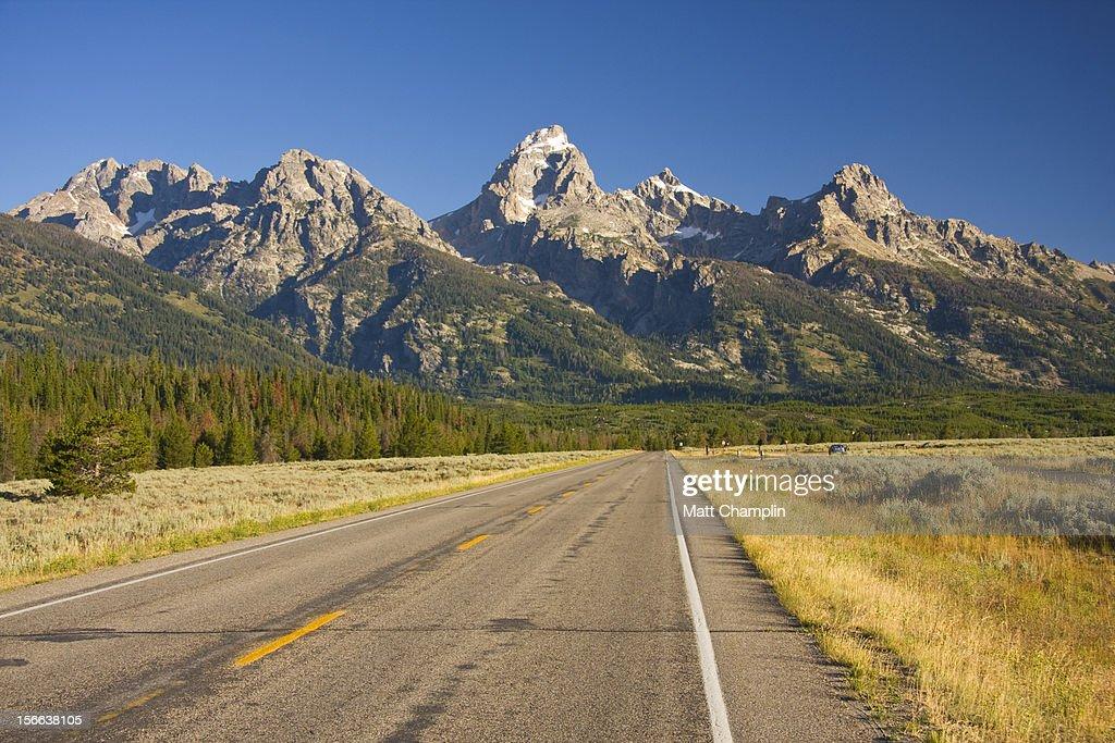 Road Heading towards the Grand Tetons