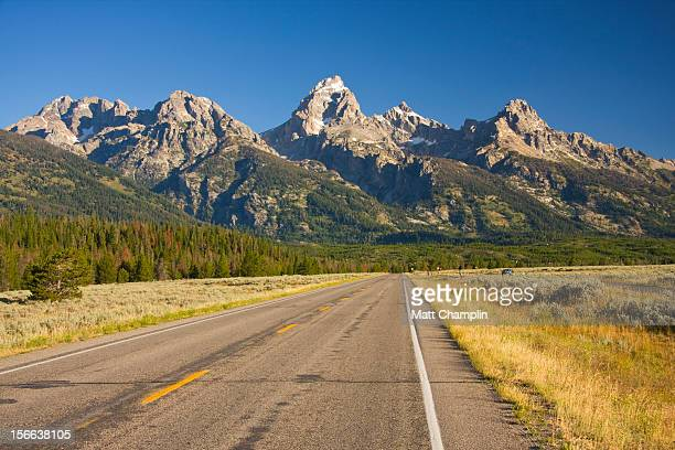 Road Heading towards the Grand Tetons