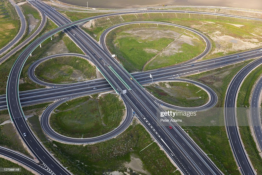 Road Highway Junction Huelva Province, Spain : Stock Photo