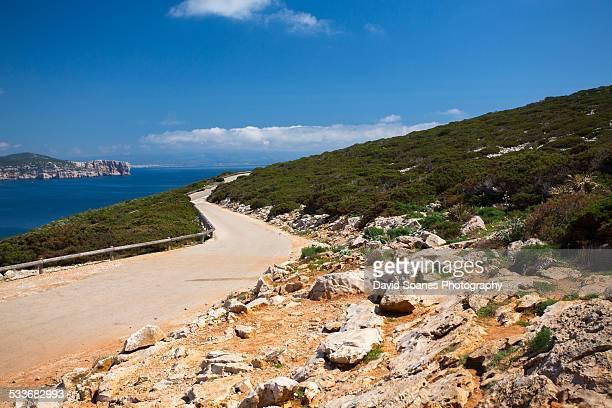 Road in Alghero, Sardinia